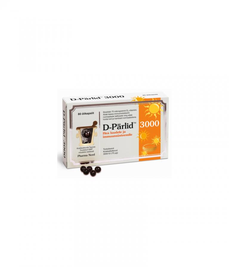 Hortus Medicus D pärlid õlikapslid 3000 N80